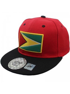 Wholesale Guyana Flag Snapback - Red & Black