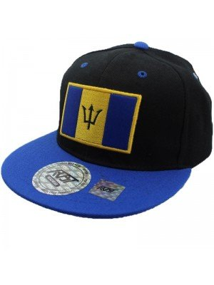 Wholesale Barbados Flag Snapback - Black & Blue