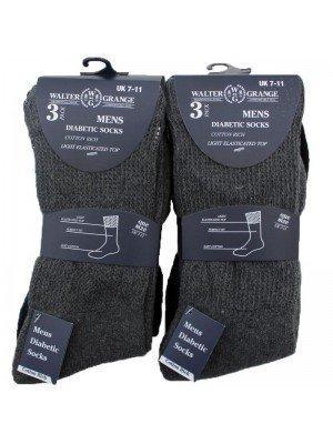 Wholesale Men's Walter Grange Diabetic Socks (7-11) - Assorted Colours