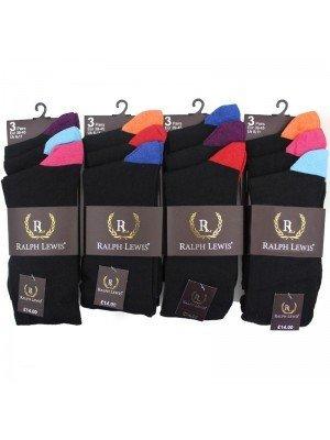 Wholesale Men's Ralph Lewis Coloured Tip Design Socks (6-11) - Assorted Colours