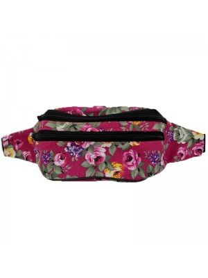 Wholesale Ladies Flower Printed Bum Bag - Assorted Colours