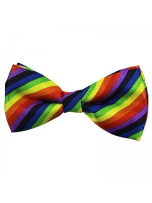 Wholesale Gay Pride Bow Tie - Rainbow Design