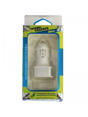 USB Car Charger - White