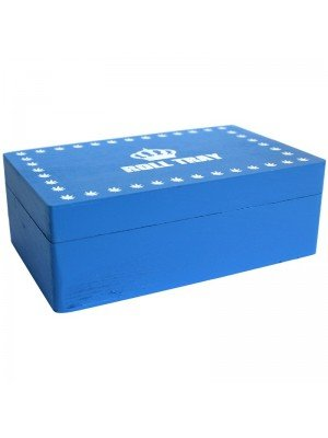 Blue Wooden Rolling Box - Roll Tray