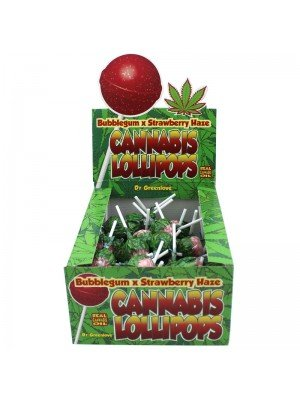 Wholesale Cannabis Lollipops - Bubblegum x Strawberry Haze