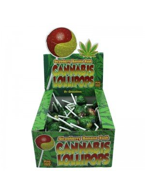 Wholesale Cannabis Lollipops - Strawberry Banana Kush