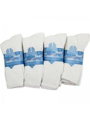 Wholesale Men's Fresh Feel Authentic Sport Socks - White