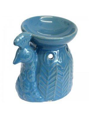 Ceramic Peacock Oil Burner - Assorted Colours