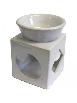 Cube Ceramic Oil and Tart Burner - Assorted Colours
