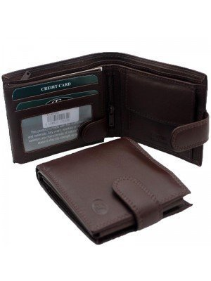 Wholesale Men's Florentino Leather Wallet With 11 Card Slots - Cognac