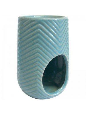 Ceramic Herring Bone Oil and Tart Burner - Assorted Colours