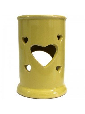 Wholesale Hearts Ceramic Oil and Tart Burner - Assorted Colours