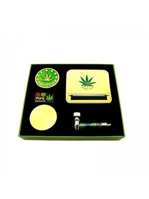 Wholesale 4Smoke Amsterdam Grinder Gift Set - Gold