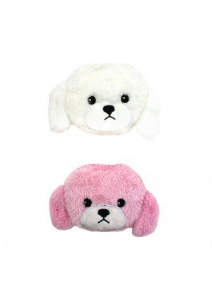Wholesale Soft Fluffy Poodle Face Zip Coin Purse