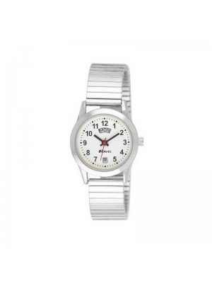 Wholesale Ravel Ladies Day Date Expander Watch- Silver