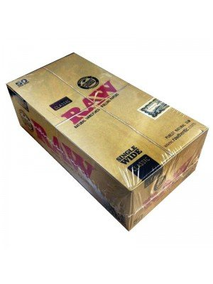 Wholesale RAW Classic Natural Unrefined Rolling Papers - Single Wide Size
