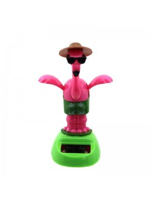 Dancing Flamingo with Sunglasses Solar Pal