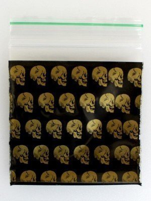 Grip Seal Printed Baggies - Skull Design (50 x 50 mm)