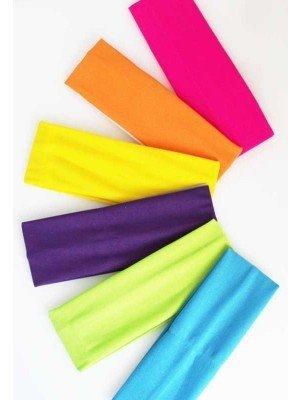 Wholesale Bright Neon 7cm Wide Headband-Assorted Colours