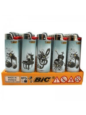 BiC Collectable Lighers - Music Decals Prints - Assorted (x50)