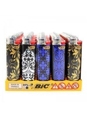 BiC Collectable Lighters - Baroque Decals Prints - Assorted (x50)