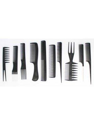 Wholesale 10 pcs Professional Comb Kit-Black