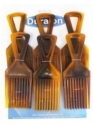 Wholesale Duralon Afro Comb SL Shell-Brown(15cm)