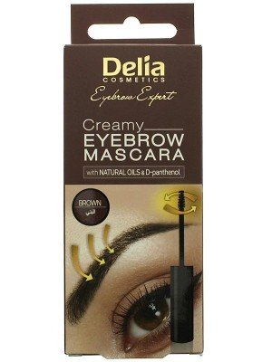 Delia Cosmetics Creamy Eyebrow Mascara - Brown