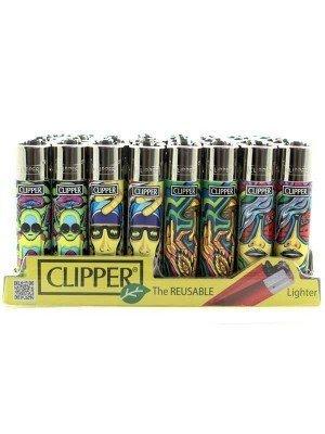 Wholesale Clipper Reusable Lighter - Psycho 2 (Assorted Designs)