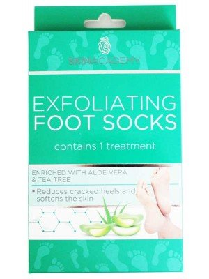 Wholesale Skin Academy Exfoliating foot socks-Aloe Vera & Tea Tree
