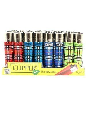 Wholesale Clipper Reusable Lighter - Table Print (Assorted Designs)
