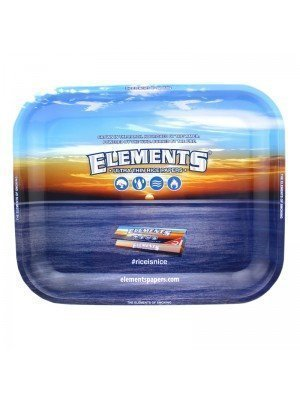 Wholesale Elements Rolling Metal Tray  34 x 27.5 cm