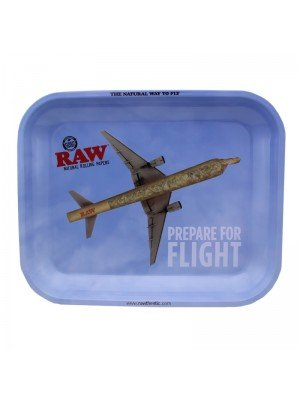 "Wholesale RAW Rolling Metal Tray ""Prepare For Flight"" 34 x 27.5 cm"