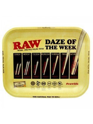 "Wholesale RAW Rolling Metal Tray ""Daze Of The Week"" 34 x 27.5 cm"