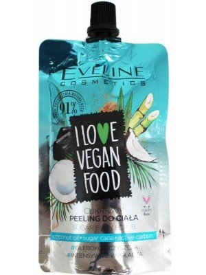 Wholesale Eveline I Love Vegan Food Sugar Body Scrub 75ml-Coconut Oil