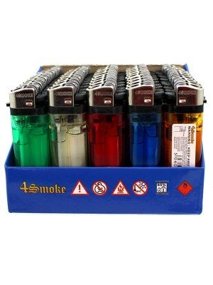 Wholesale 4Smoke Disposable Lighters-Assorted Colours (50)