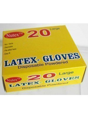Wholesale Disposable Latex Powdered Gloves - 100 Pieces(Large)