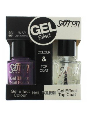 Wholesale Saffron Gel Effect Nailpolish - Purple & Top Coat