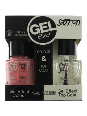Wholesale Saffron Gel Effect Nailpolish - Baby Pink & Top Coat
