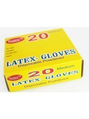 Wholesale Disposable Latex Powdered Gloves - 100 Pieces(Medium)