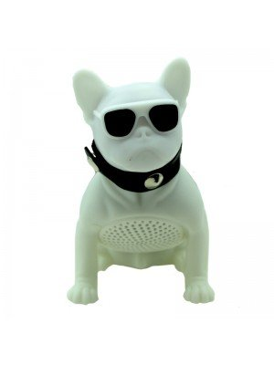 Wholesale Portable Wireless Speaker Dog - White