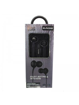 Wholesale Elmcoei Stereo Earphones EV136 - Black