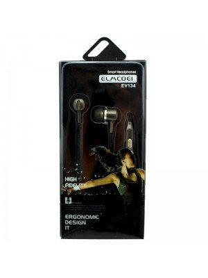 Wholesale Elmcoei Stereo Earphones EV134 - Graphite