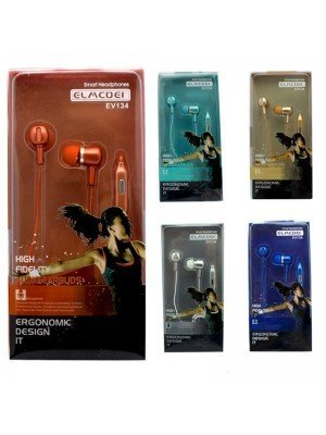 Wholesale Elmcoei Stereo Earphones EV134 - Assorted Colours