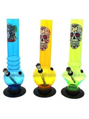 Wholesale Acrylic Bong Assorted Prints and Shapes - 10 inch
