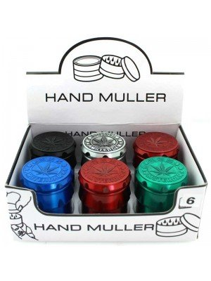 Wholesale 4-Part Metal Grinder with Stash Window - Assorted Colours - Tray