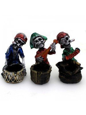 Wholesale Pirate Skull Band Ashtray- Assorted Design