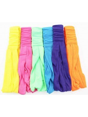 Wholesale 3 in 1 Multi Use Fabric Bandeaux Headband (Bright Assorted)
