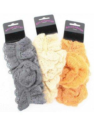 Crochet Flower Design Headband - Assorted Colours