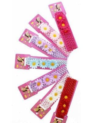 Crochet Daisy Flower Design Headbands - Assorted